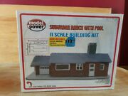 Model Power Suburban Ranch With Pool Building N Scale New Sealed