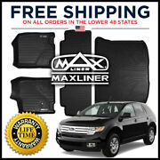 Maxliner Custom All Weather 1st 2nd And Cargo Floor Mat Set For 2007-10 Edge/mkx
