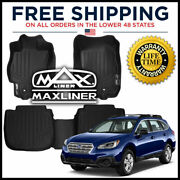 Maxfloormat 1st/2nd Row Floor Liner Mats Black For 15-2020 Subaru Outback/legacy