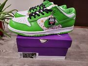 New Deadstock Size 13 - Nike Sb Dunk Low Og Qs X Supreme Mean Green Free Ship