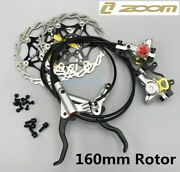 Zoom Hb875 Mtb Bike Hydraulic Disc Brakes Lever Calipers Front Rear 160mm Rotors