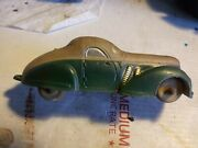 Vintage Sun Rubber Company Toy Car 1930s.green And Tan 96 Pat 2035081 Duesenberg