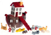Dollhouse Miniature Ark With Animals Set Of 25