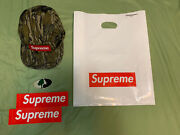 Supreme X Mossy Oak Military Camp Cap Fw18 W/two Box Logo Stickers And Bag
