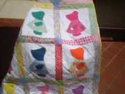 Handmade Baby Girl Quilt1930and039s Lap Quiltpatch Crib Quilttoddler-sunbonnet Sue