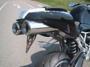 Exhaust Hellfire-race Silencer For Bmw R1200 S Brushed With Anlauffarben