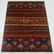 5 X 7 Ft Lovely Designed Multi Shades Hand-knotted Afghan Modern Area Rug
