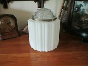 Large 1930and039s Art Deco Pendant Ceiling Light Shade Kitchen Bathroom Or Hall