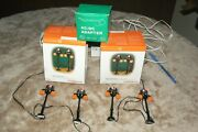 2 Boxes Of Dept 56 Halloween Village Gothic Street Lamp Set Of 2 In Each Box