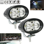 2pcs Bright 20w Car Driving Fog Light Atv Auxiliary Motorcycle Headlight Offroad