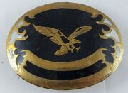 Vintage Rare Johnson And Held American Eagle Handcrafted Belt Buckle Signed