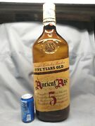 Ancient Age Whiskey 5 Years Old Kentucky Bourbon Glass Display 22 Bottle
