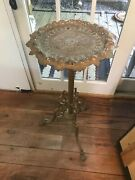 """Beautiful Ornate Antique Cast Iron Plant Stand With Cherubs. Industrial Age 32"""""""