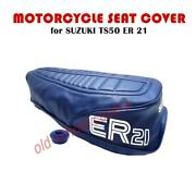 Motorcycle Seat Cover Suzuki Ts50 Er 21 Model Blue Cover And Strap Ts 50 Ts50er21