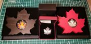 2015 And 2016 Canada Fine Silver Maple Leaf Shaped Coins Special Edition