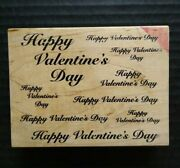 Great Impressions Rubber Stamp Happy Valentines Day Repeating Background