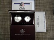 1992 U.s Mint Olympic Coins Silver Proof Dollar And Half Clad Dollar 2 Coins