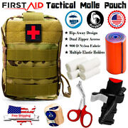 Molle Pouch Tactical Trauma Kit - First Aid Emergency Survival Military Bag Ifak