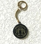 Vintage Keychain Chicago Stock Yards Key Fob Ring 100 Years 1865 - 1965 Rare Old