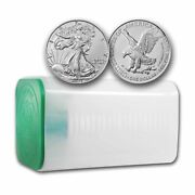 2021 1 Oz American Silver Eagle Bu Type 2 - Lot Roll Tube Of 20 Coins
