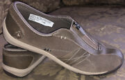 Natural Sport Ryker By Dr Scholls Browntaupe Leather Sneakers Women Sz 7.5m