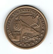 1976 American Freedom Train Bicentennial Journey 37mm Bronze Colored Medal 2