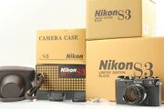 【top Mint All Boxed】 Nikon S3 Limited Edition Black Nikkor-s 50 / 1.4 From Japan