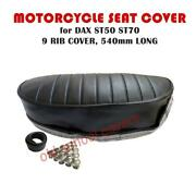 Motorcycle Seat Cover Fits Honda Dax St50 St70 With Seat Buttons And Strap