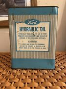 Vintage 2 Gallon Ford Tractor Hydraulic Oil Can Ford Motor Company Farm Tin Sign