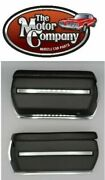 1970 Monte Carlo Front Armrest Bases Complete Also Includes Chrome Backing Plate