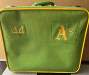 Rare 1970's 44 Oakland Athletics A's Player Used Travel Suitcase Bag Baseball