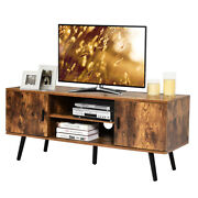 Industrial Tv Stand Entertainment Center For Tvand039s Up To 55 W/ Storage Cabinets