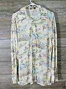 The Dude Western Rodeo Shirt Menand039s Xl Vintage 70and039s Cowboys And Horses
