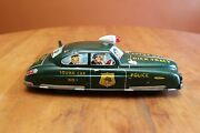 Marx Dick Tracy Squad Car 1 Tin Litho Wind-up Withkey Light And Siren Restored