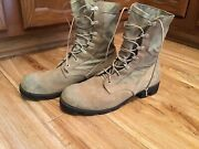 Vintage Ro Search Tan Leather Desert Jungle Style Military Combat Boots 9 1/2