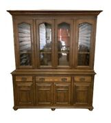 Ethan Allen Royal Charter Oak Buffet With Hutch China Cabinet