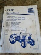 Ford Service Manual Tractor 2000,3000,4000,5000,7000,3400,and More 1965-75 Vol 3