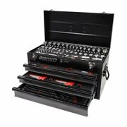 Boxo Usa Metric And Sae Tool Box With 3 Drawer Carry Chest - 185pcs