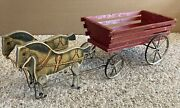 """Gibbs Horse And Wagon Toy """"gray Pacers"""" Circa 1908"""