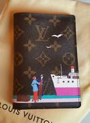 New Auth Louis Vuitton Limited Edition Monogram 2016 Christmas Passport Cover