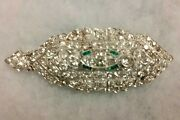 Vintage Diamond Brooch With Pendant Feature