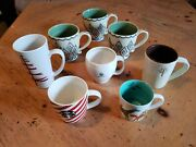 Lot Of 8 Starbucks Coffee Cup Mugs Various Styles Some Rare Vg Cond.