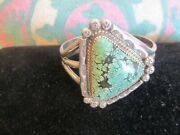 Vintage Oneida C Isaacs Sterling Silver Royson Turquoise Cuff Bracelet 🌟signed