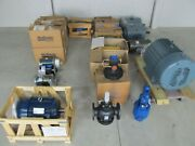 Lot Consisting Of 22 Industrial Electric Motors And 3 Steam Valves - New -