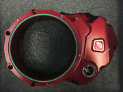 Ducabike For Ducati Clear Clutch Cover Oil Bath Red Ccdv03aa
