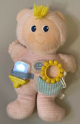 """Vintage Dan Dee Love And Learn Plush Doll Rattle Teether 13"""" Pink Terry Baby Toy"""