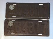 1915 Michigan License Plates Matched Pair