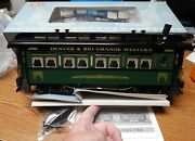 Rea 31004 Drgw Coach Passenger Car New In Box W/smoke And Lights G Scale Lqqk