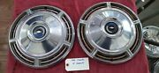 1968 Vintage Chevy Chevelle Hubcaps Chevrolet 14 Inch H3020 Pair Of 2