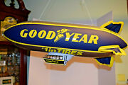 Goodyear Tire Inflatable Blimp Blow Up Advertising Dirigible 32 Inches Long Rare